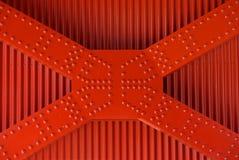 Rode klinknagels Royalty-vrije Stock Fotografie