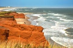 Rode klip in Magdalen-eilanden Stock Foto