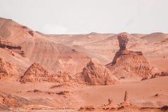 Rode klippen van de canion van Khermen Tsav Gobi deser royalty-vrije stock foto's