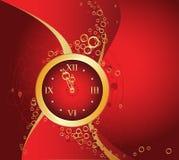 Rode klok Royalty-vrije Stock Afbeelding