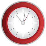 Rode klok royalty-vrije illustratie