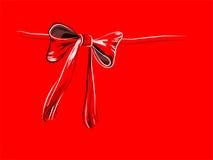 Rode knoop stock illustratie