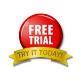 Rode knoop met woorden` Vrije Proef - probeer vandaag het Royalty-vrije Stock Fotografie