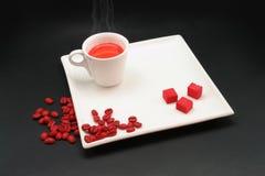Rode Koffie Royalty-vrije Stock Foto