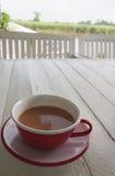 Rode koffiekop stock fotografie