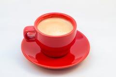 Rode Koffiekop en schotel met koffie Royalty-vrije Stock Fotografie