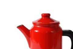 Rode koffiepot Royalty-vrije Stock Foto