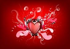 Rode koning van harten royalty-vrije illustratie