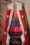 Rode koningsrobe in het Kasteel van Stara Lubovna Royalty-vrije Stock Foto