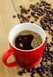 Rode kop van koffie Royalty-vrije Stock Fotografie