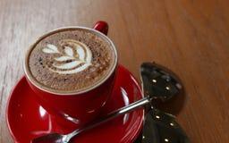 Rode kop van koffie Stock Afbeeldingen
