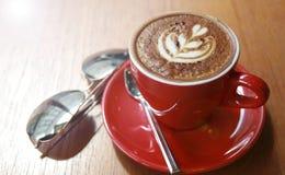 Rode kop van koffie Stock Afbeelding