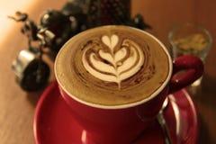 Rode kop van koffie Stock Fotografie