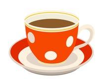 Rode kop van koffie vector illustratie