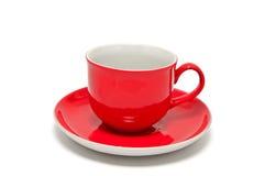Rode kop voor koffie en thee Stock Foto's
