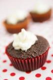 Rode kopcake Stock Foto's