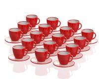 Rode koppen Stock Afbeeldingen