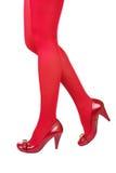 Rode kousen Royalty-vrije Stock Afbeeldingen