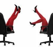 Rode kousen royalty-vrije stock afbeelding