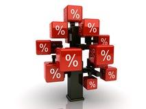 Rode kredietboom Vector Illustratie