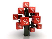 Rode kredietboom Stock Fotografie