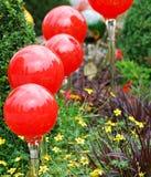 Rode kristallen bollen Stock Foto's