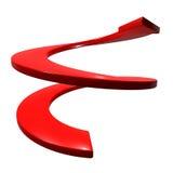 Rode krommepijl op richting royalty-vrije illustratie