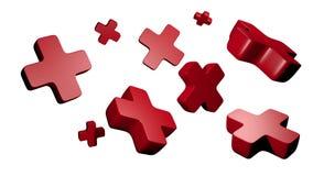 Rode kruisen Royalty-vrije Stock Afbeeldingen