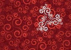 Rode krullende achtergrond Royalty-vrije Stock Foto's