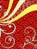 Rode Krullende Grafisch Royalty-vrije Stock Foto's