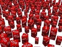 Rode kubussen Royalty-vrije Stock Afbeeldingen