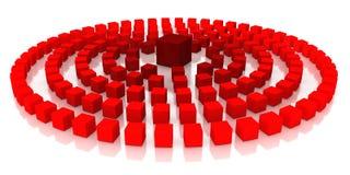 Rode kubussen Royalty-vrije Stock Afbeelding