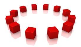 Rode kubussen Stock Afbeelding