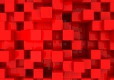 Rode kubussen Royalty-vrije Stock Foto's