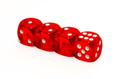 Rode kubussen met aantallen Stock Fotografie