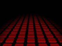 Rode kubussenachtergrond Stock Illustratie
