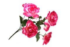 Rode kunstbloemen Stock Foto