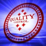 Rode kwaliteitsbeheersing zegel stock illustratie