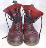 Rode laarzen Stock Afbeelding