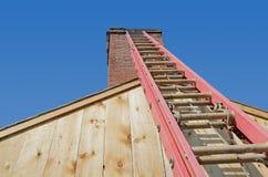 Rode Ladder royalty-vrije stock foto's
