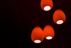 Rode lampen Stock Fotografie
