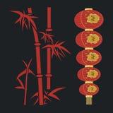 Rode lantaarn. Stock Fotografie