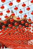 Rode lantaarn stock foto