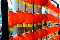 Rode lantaarn bij de gelegenheid Royalty-vrije Stock Foto's