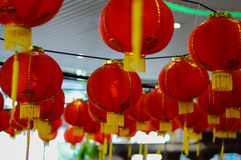 Rode lantaarn bij de gelegenheid Stock Foto