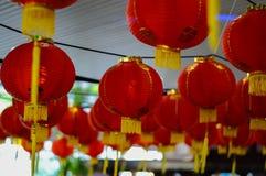 Rode lantaarn bij de gelegenheid Royalty-vrije Stock Foto
