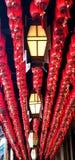 Rode lantaarn in de tempel royalty-vrije stock afbeelding