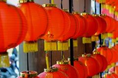 Rode lantaarn ter gelegenheid van de Chinezen Stock Fotografie