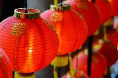 Rode lantaarn ter gelegenheid van de Chinezen Royalty-vrije Stock Foto