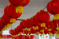 Rode lantaarn ter gelegenheid van de Chinezen Royalty-vrije Stock Foto's